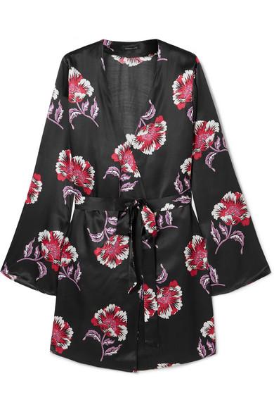 Morgan Lane Langley floral-print satin robe, available at matchesfashion