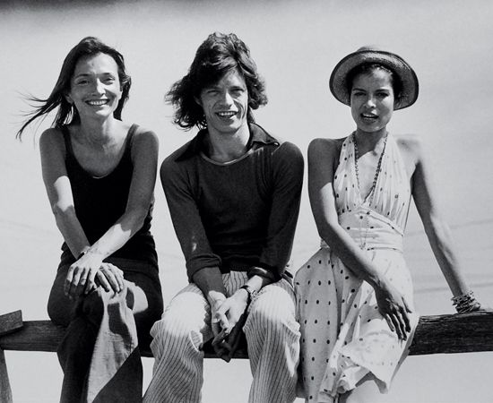 Lee Radziwill with Mick and Bianca Jagger.jpg