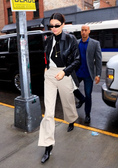 Kendall Jenner wearing Dickies Girl in NYC