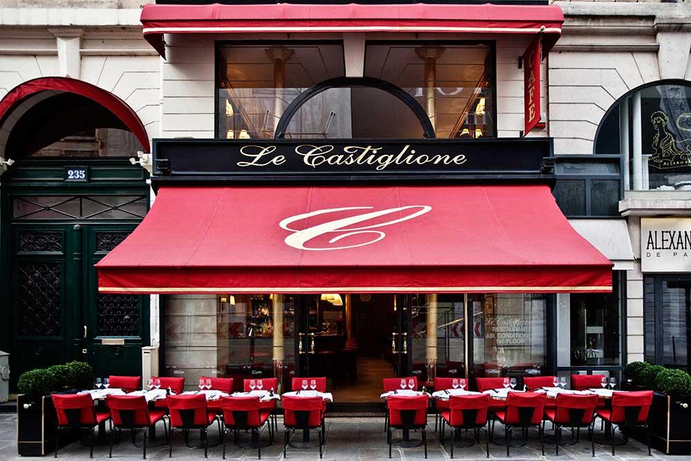 Le Castiglione, Paris. Image via Le Castiglione