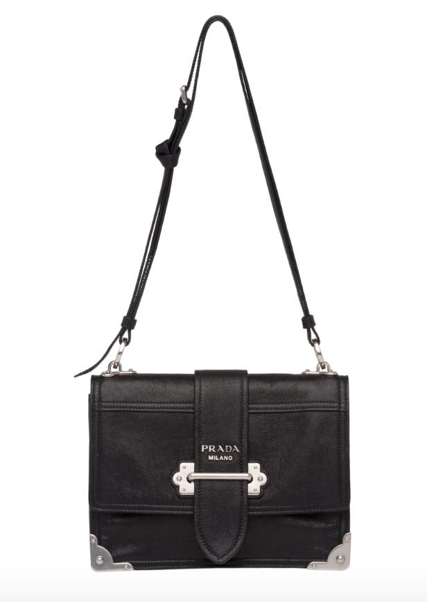 prada Cahier leather shoulder bag, available at prada