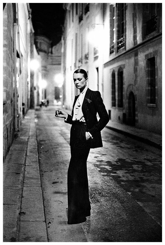 YSL Le Smoking Suit, Helmut Newton 1975