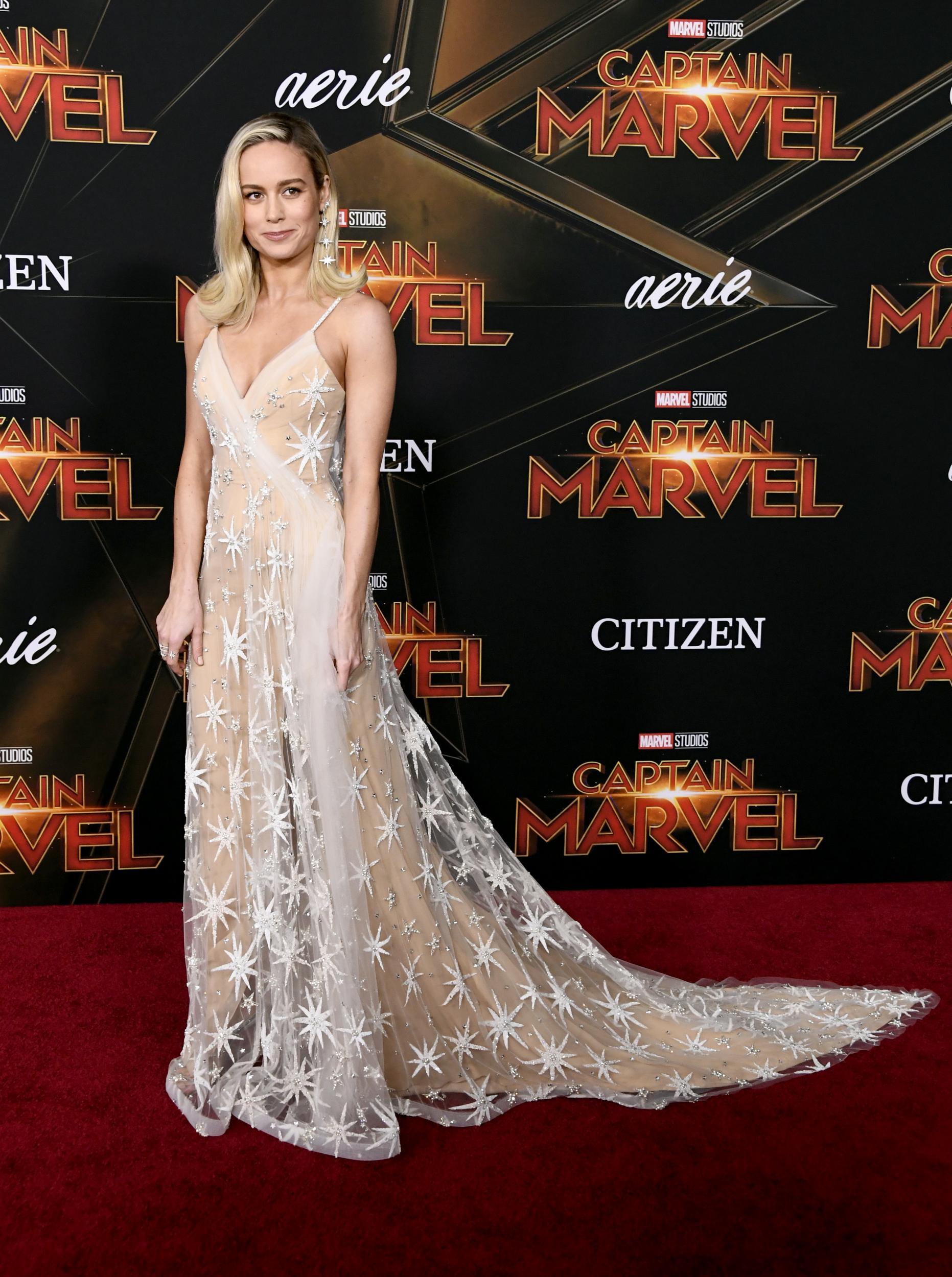 Brie Larson in Rodarte at Marvel Premiere in LA.jpg