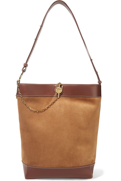 JW Anderson Lock Leather-trimmed suede tote.jpg