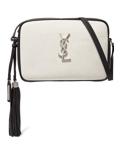 SAINT LAURENT LOU CANVAS AND LEATHER SHOULDER BAG.jpg