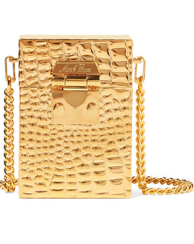 MARK CROSS NICOLE CROC-EMBOSSED GOLD TONE SHOULDER BAG.jpg