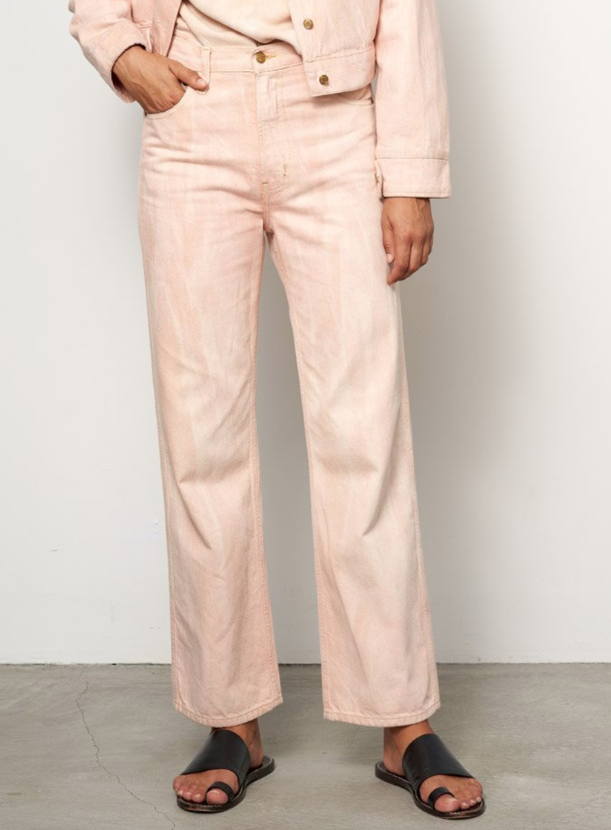 BSIDES PLEIN RELAXED STRAIGHT JEAN WATERCOLOR
