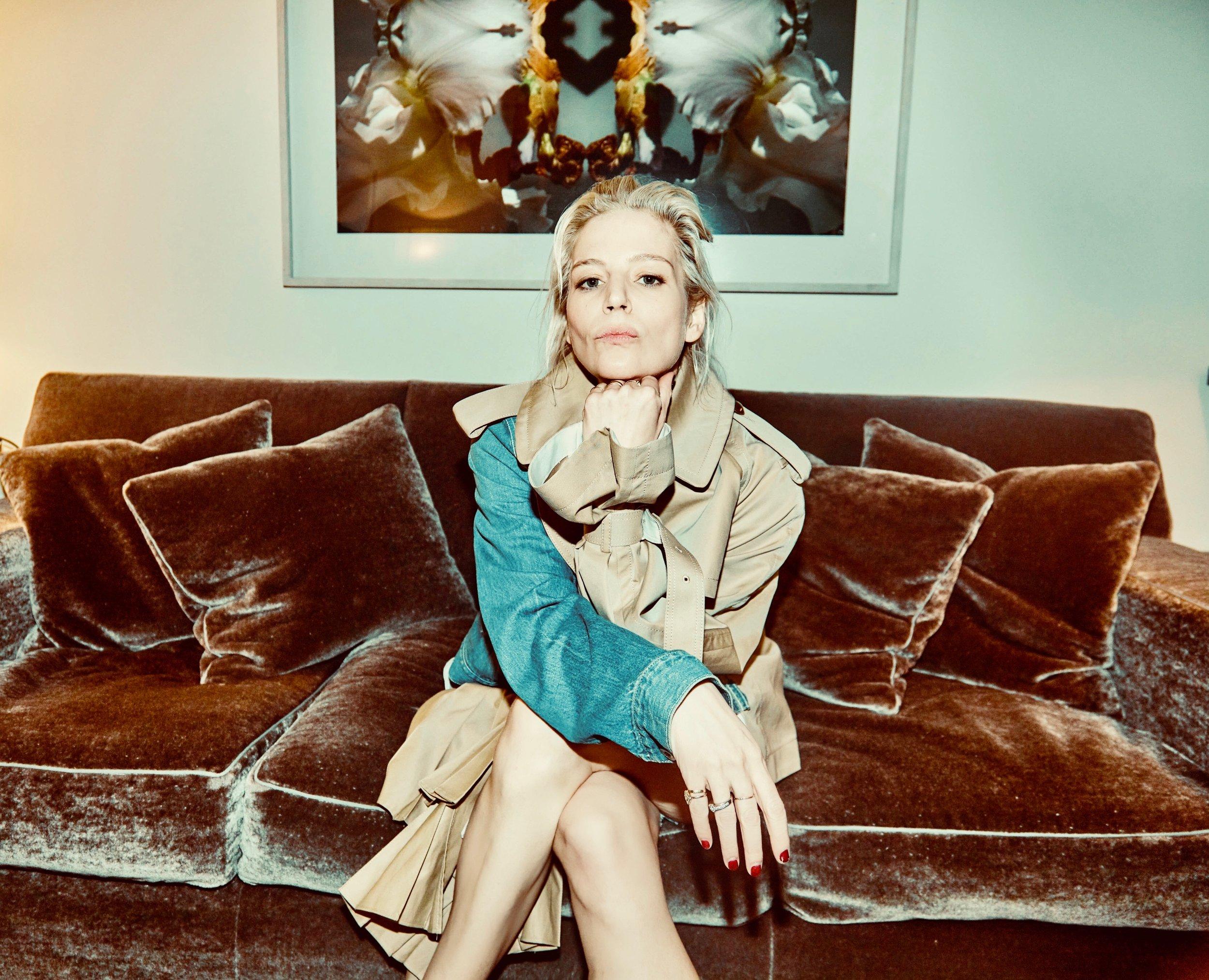 Julia von Boehm wearing Sacai at The Mark Hotel. Image by Savanna Ruedy