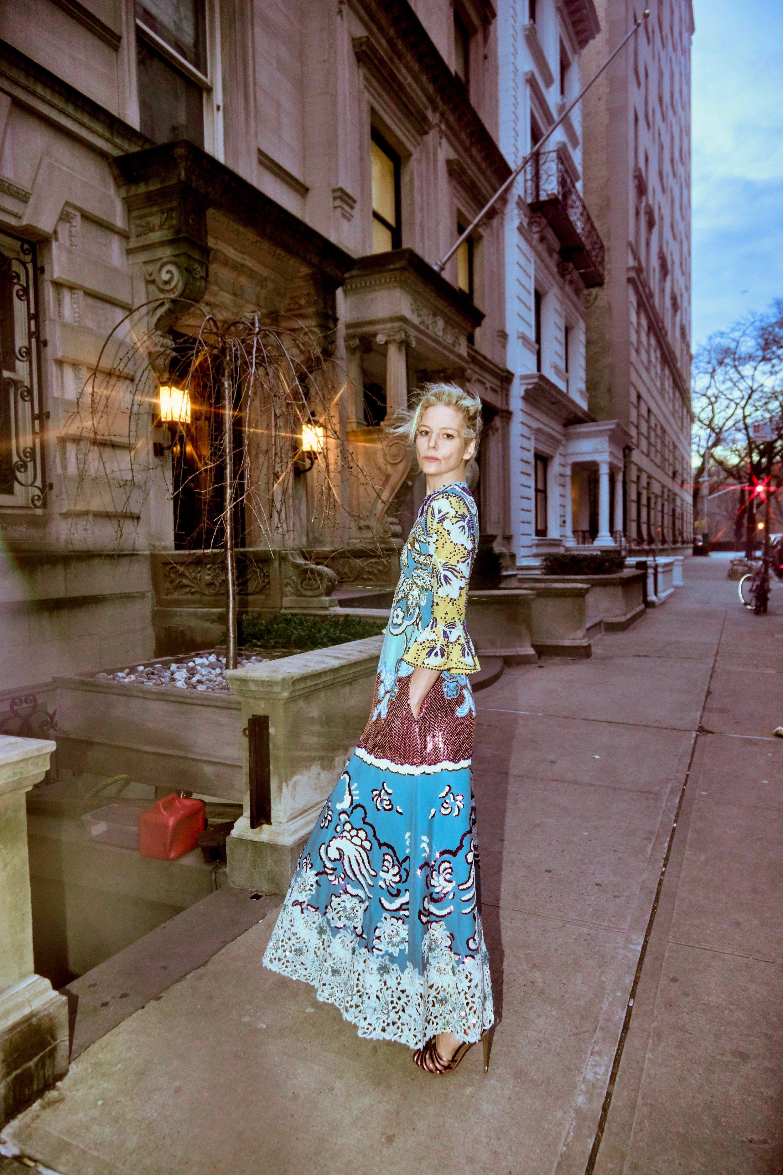 Julia von Boehm wearing Valentino at The Mark Hotel. Image by Savanna Ruedy