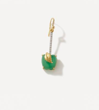 Chalcedony and Diamond Apple Single Earring 18K Gold - Exclusive