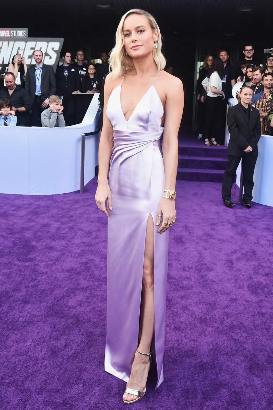 Brie Larson in Celine at Avengers Endgame Premiere.jpg