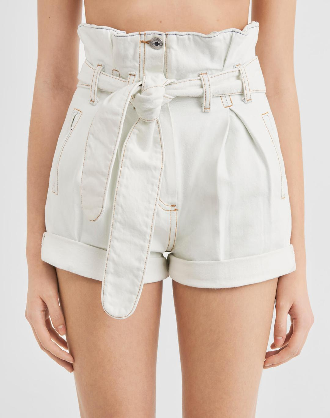 PLEATED 80S HIGH-RISE SHORT