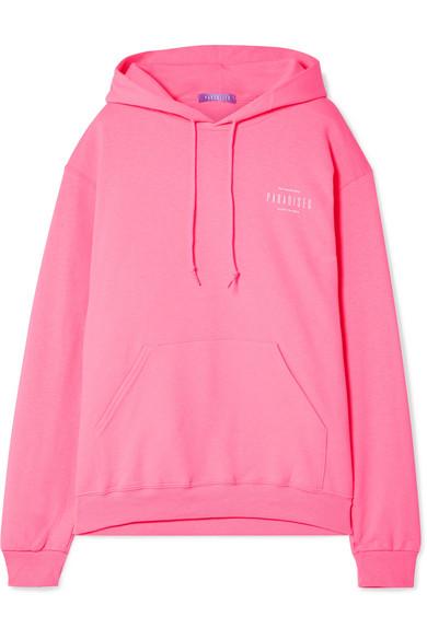 PARADISEDI Followed printed cotton-blend jersey hoodie