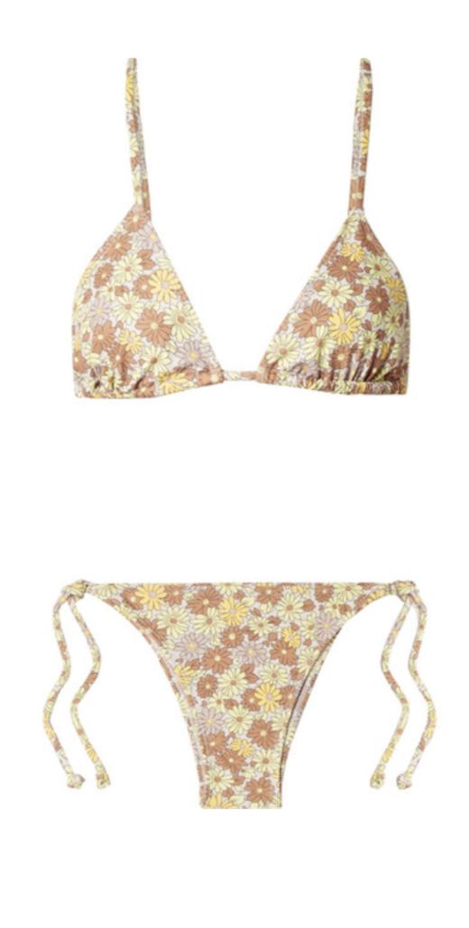 FAITHFULL THE BRAND Aira floral-print triangle bikini