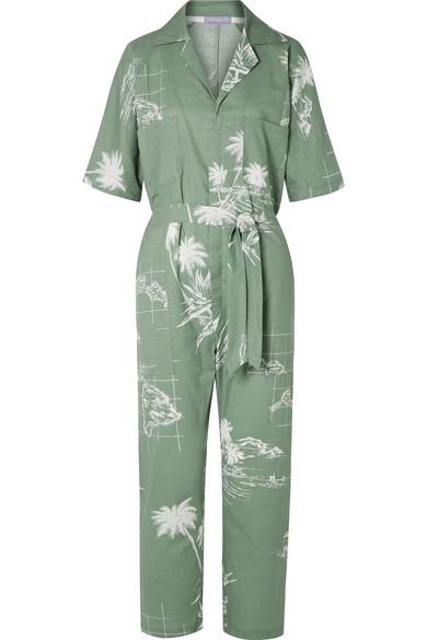 PARADISED Apres Beach printed cotton-voile jumpsuit