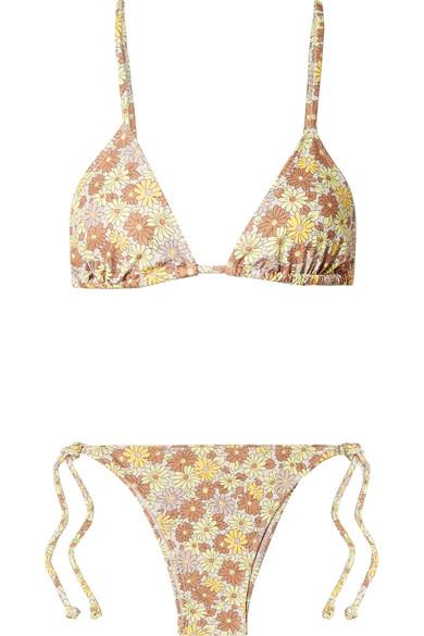 FAITHFULL THE BRANDAira floral-print triangle bikini