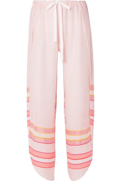 LEMLEM Eskedar Fly Away striped cotton-blend gauze pants