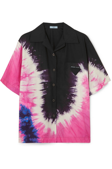 PRADA-Tie-dyed-cotton-poplin-shirt