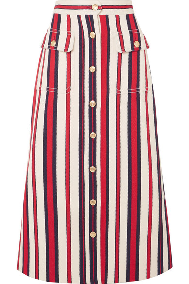 GUCCI-Striped denim-midi-skirt.jpg