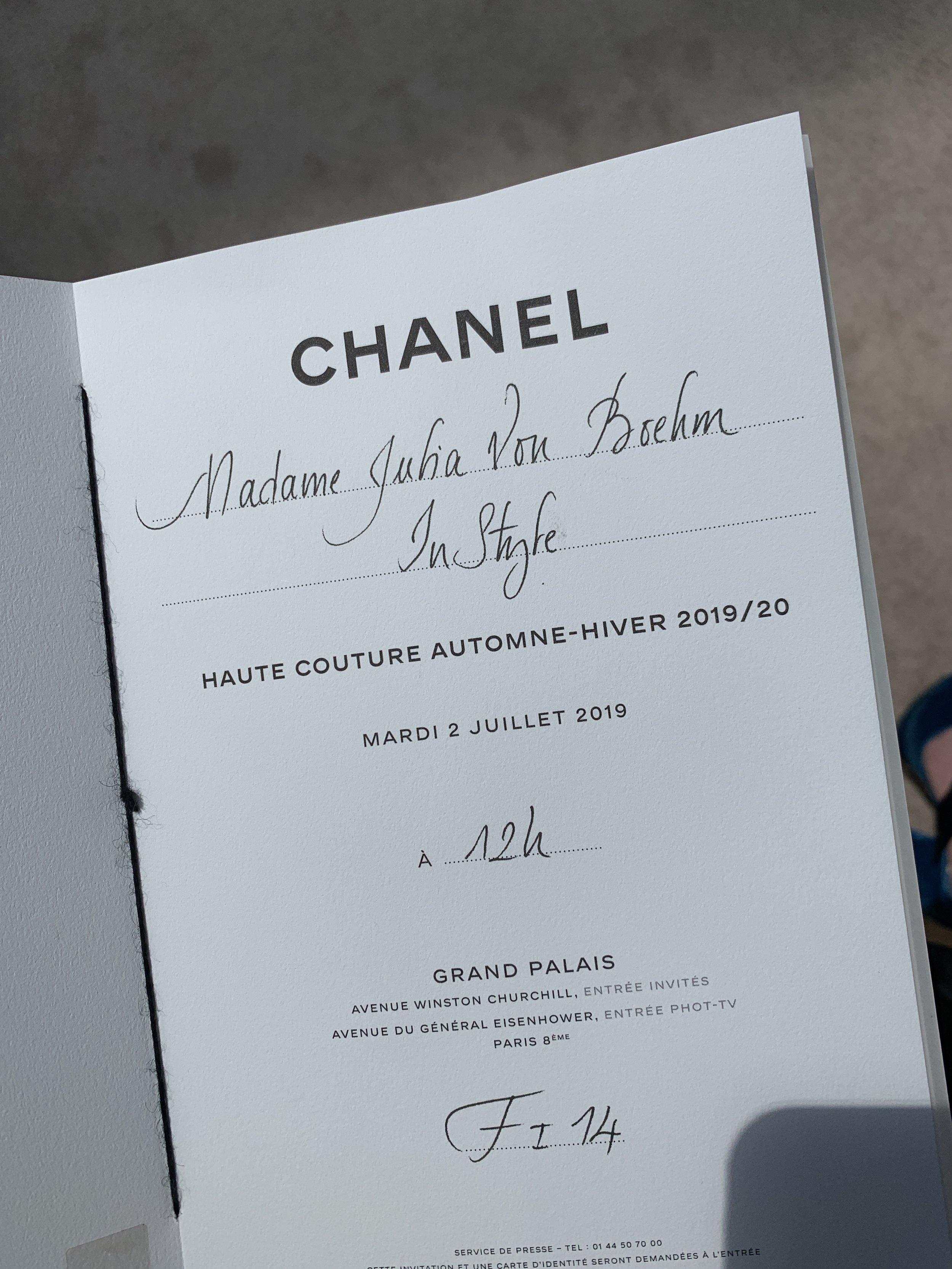 1/6 Chanel Haute Couture Fall 19, Paris