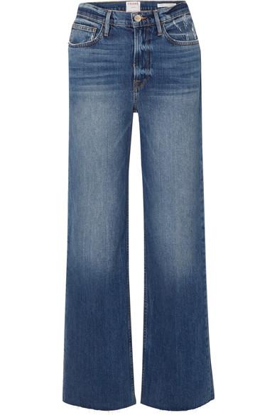 FRAME Le California frayed high-rise wide-leg jeans.jpg