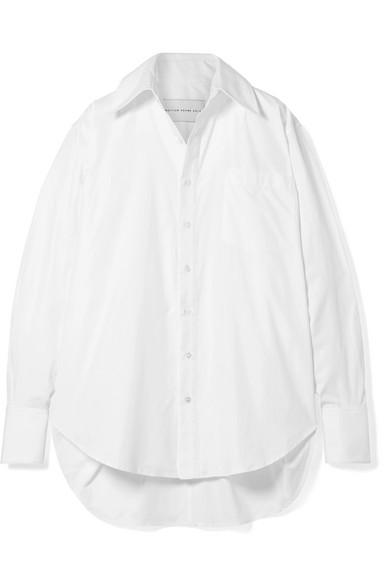 MATTHEW ADAMS DOLAN Oversized cotton-poplin shirt.jpg