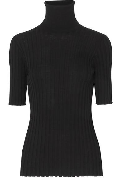 BOTTEGA VENETA Ribbed merino wool-blend turtleneck sweater.jpg