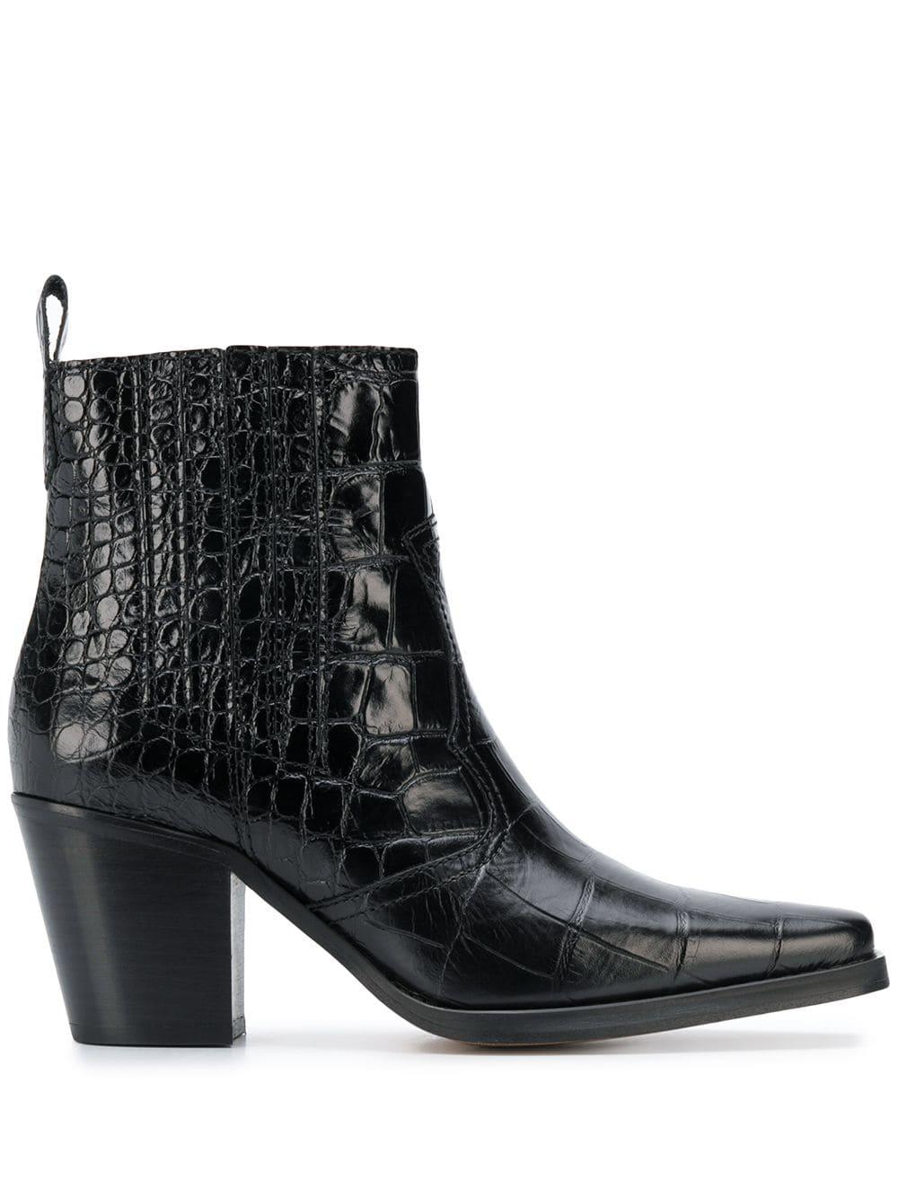 GANNI croc effect ankle boots.jpg