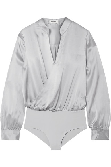 L'AGENCE Marcella wrap effect silk-satin and stretch-jersey bodysuit.jpg