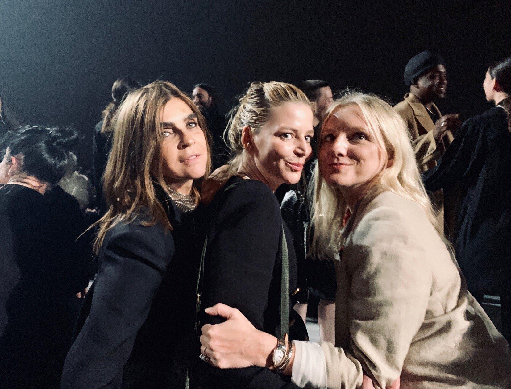 Givenchy Front Row Carine Roitfield Laura Brown Julia von Boehm.JPG