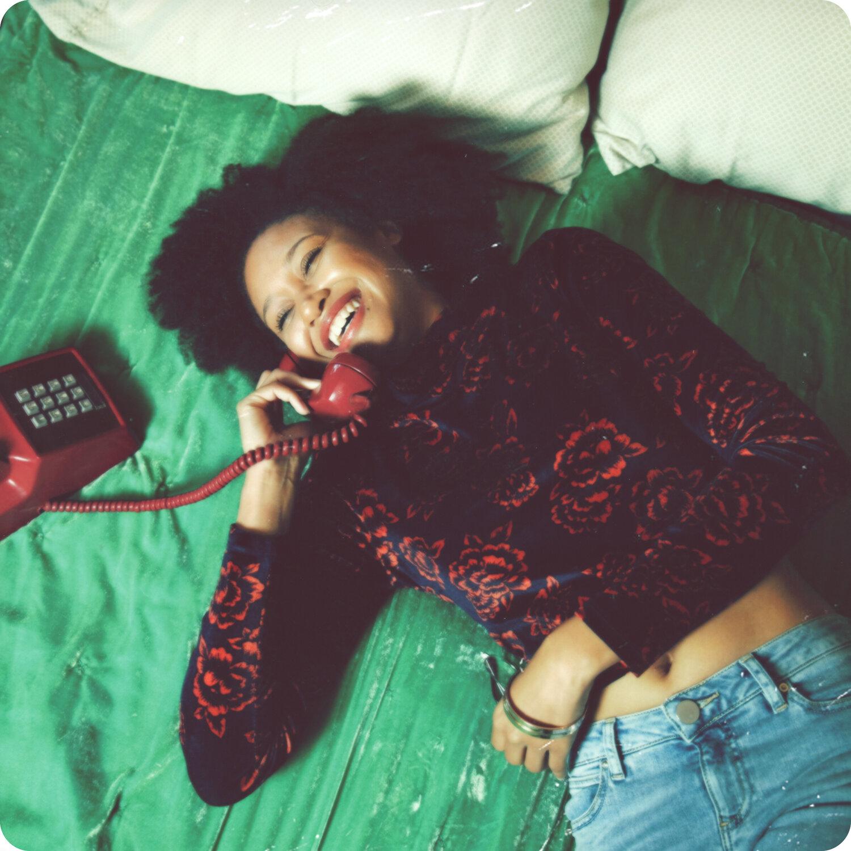 1970's youth lifestyle telephone