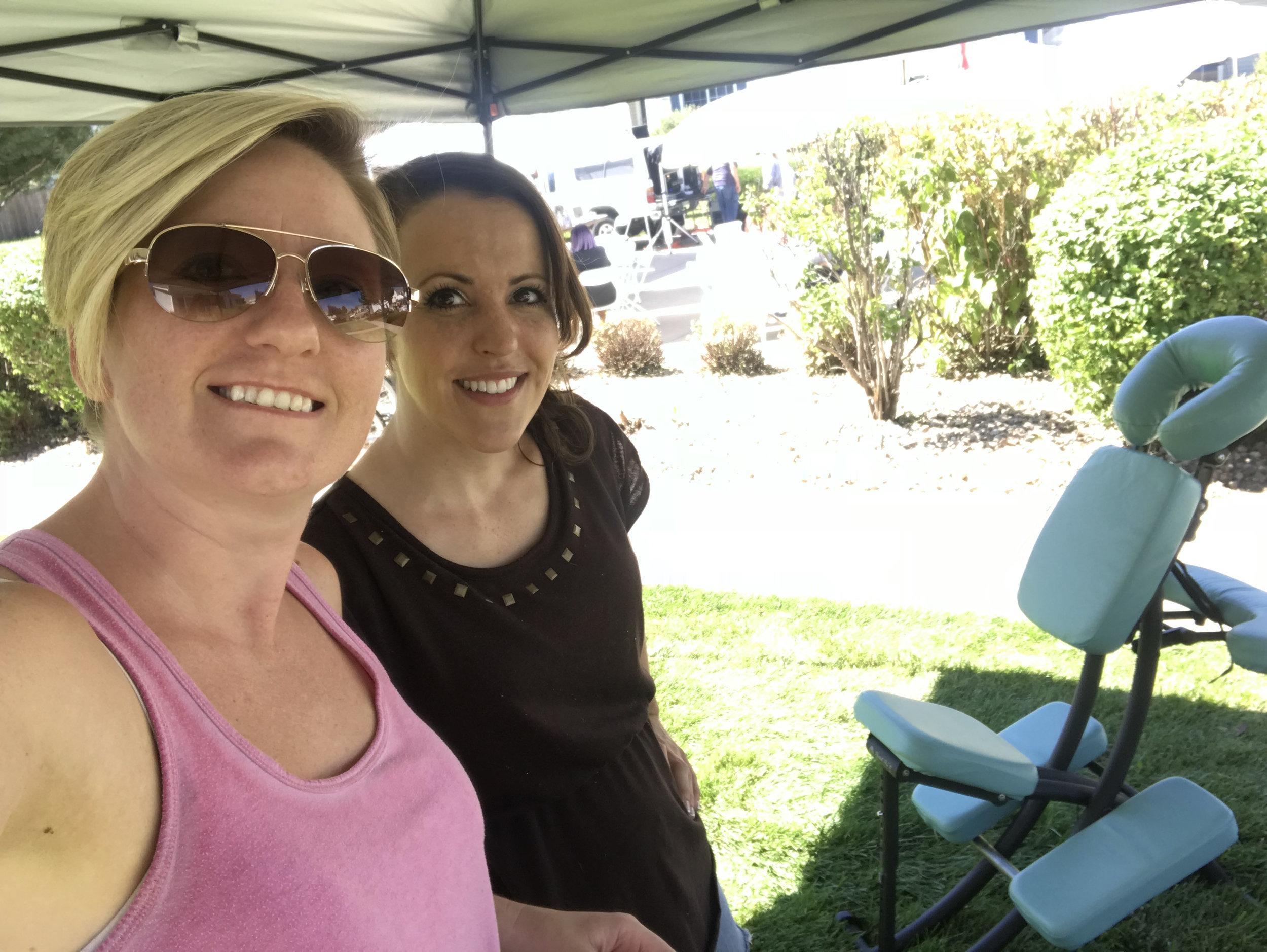 Brenna Wegman and Carolyn Lucas GVR community event