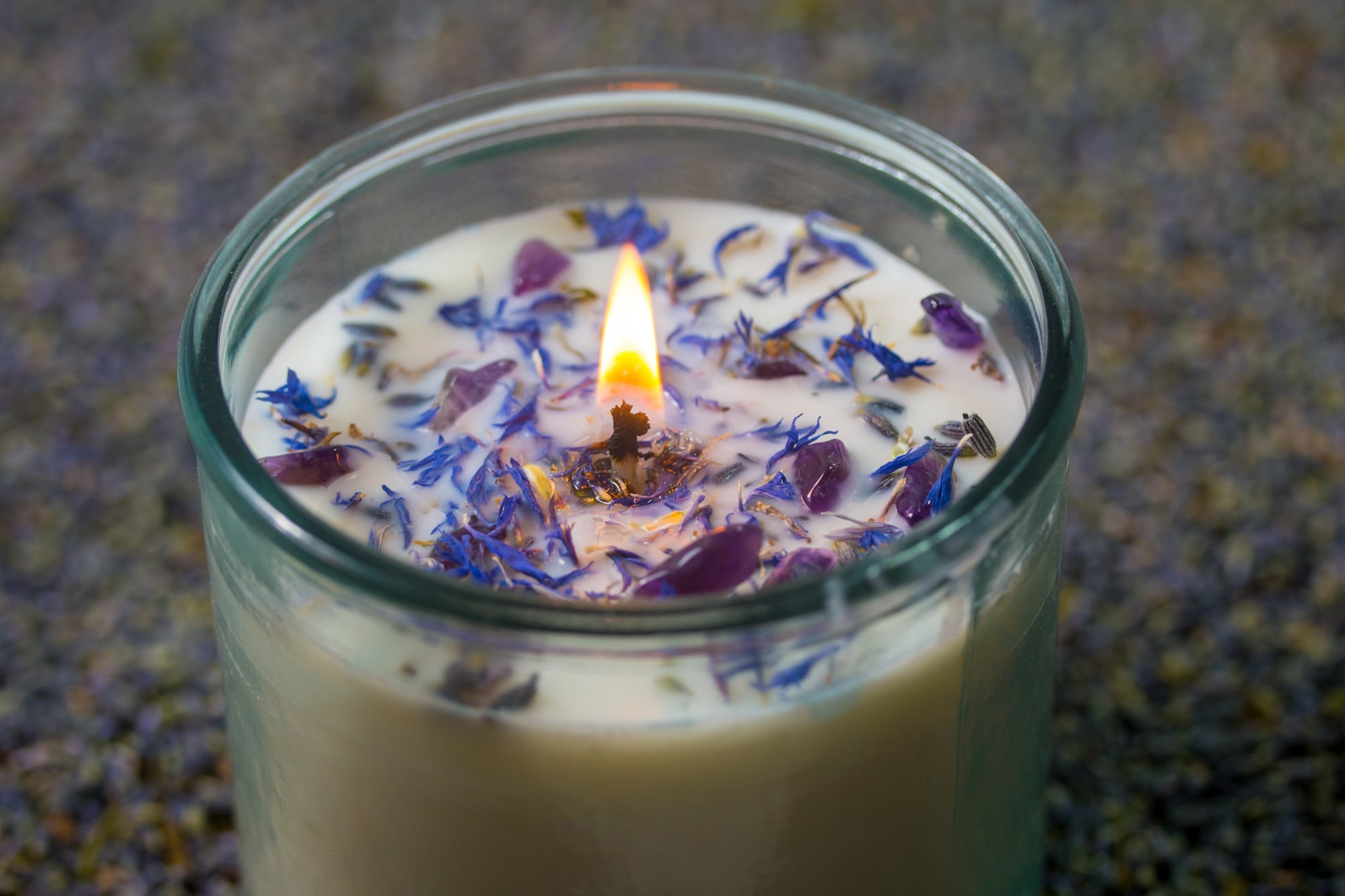 Relaxation - Lavender Candle in Recycled Spanish Glass