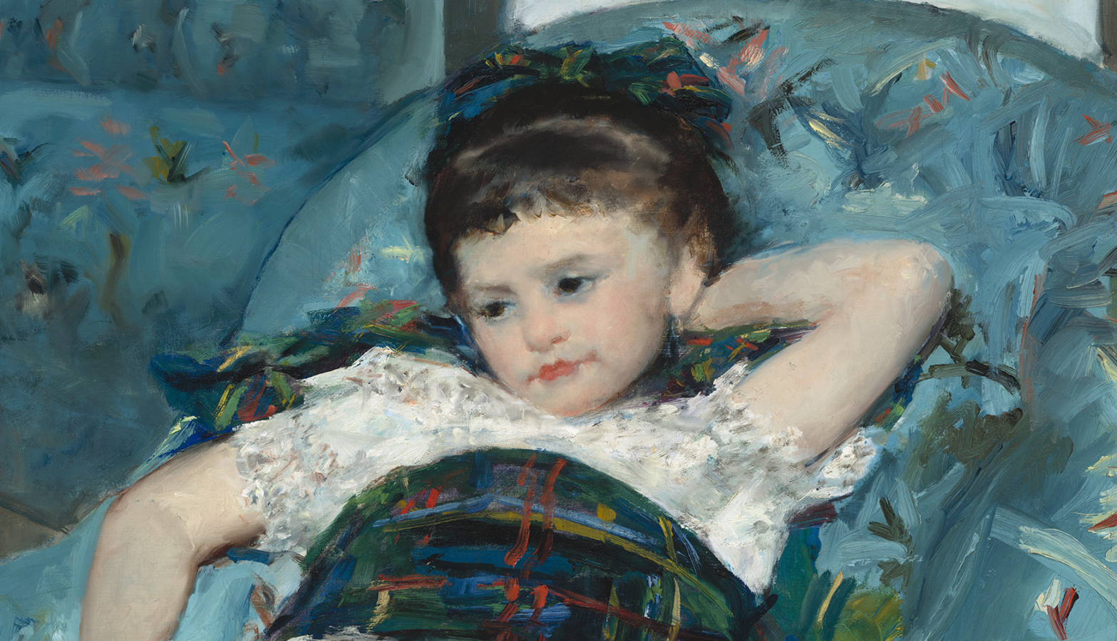 Little Girl in a Blue Armchair (1878)
