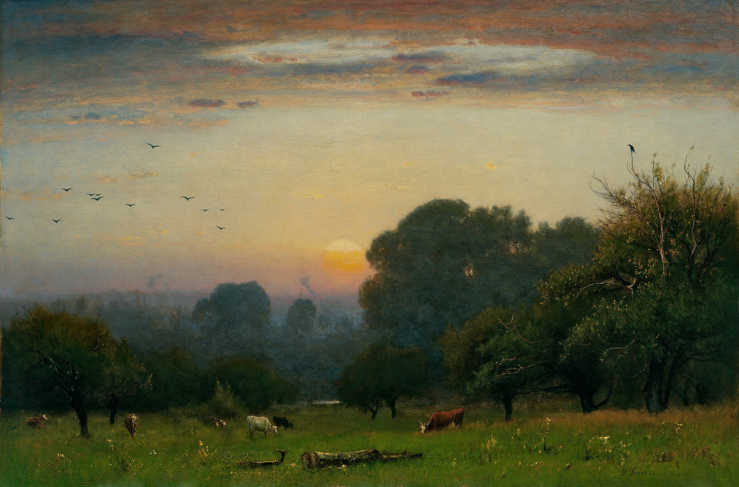 """The true use of art is, first, to cultivate the artist's own spiritual nature."" - -George Inness"