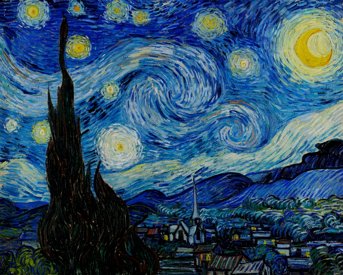 """""""I often think that the night is more alive and more richly colored than the day."""" - -Vincent Van Gogh"""