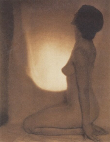 Figure in the Nude, 1918, Platinum Print photograph by Edward Weston