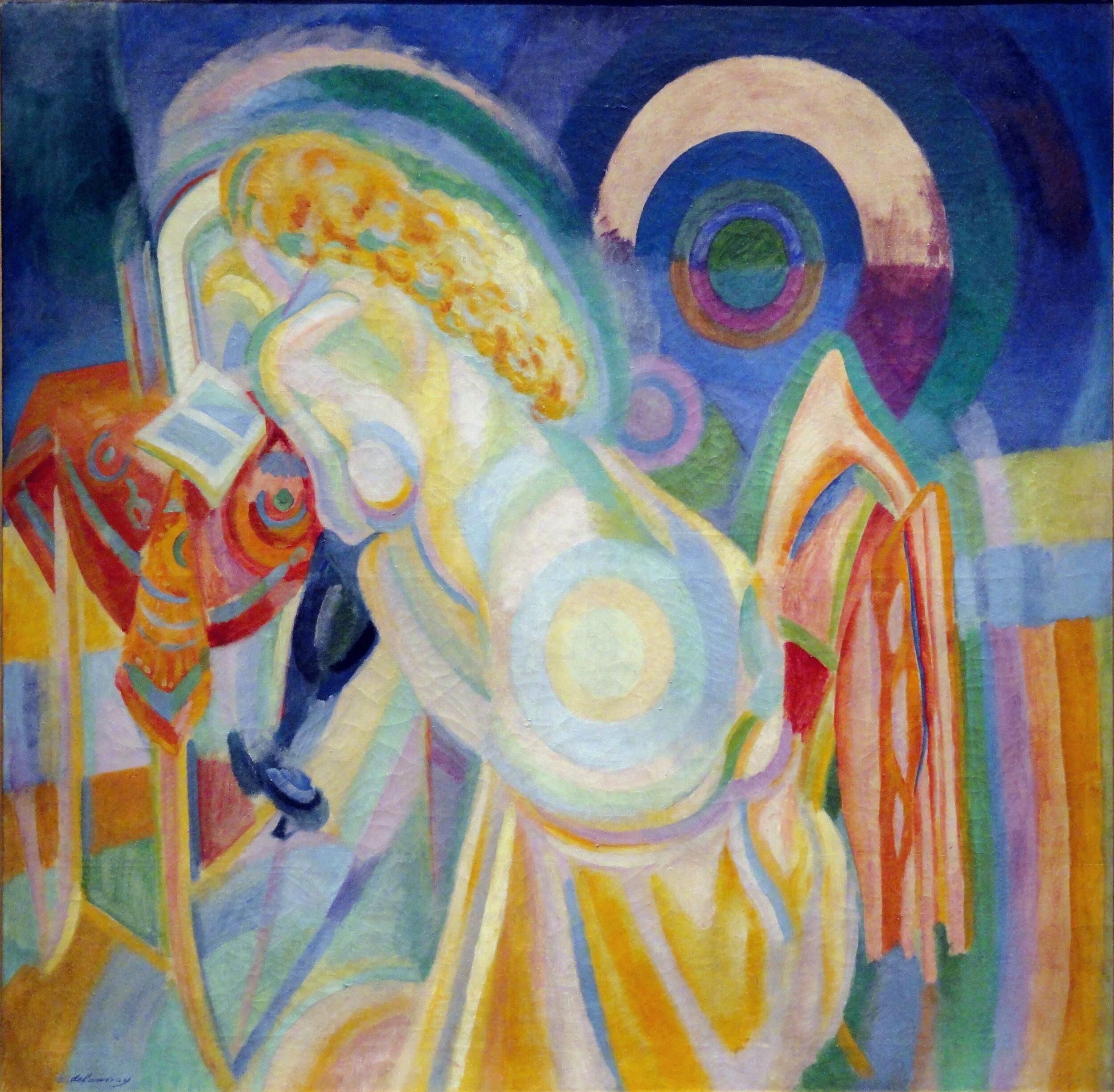 Nu à la toilette, 1915 by Robert Delaunay