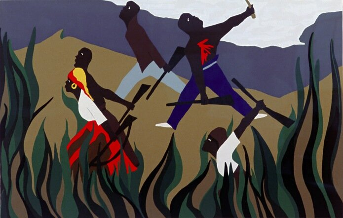 To Preserve Their Freedom, from Toussain L'Ouverture series, serigraph, 1988-1997 by Jacob Lawrence