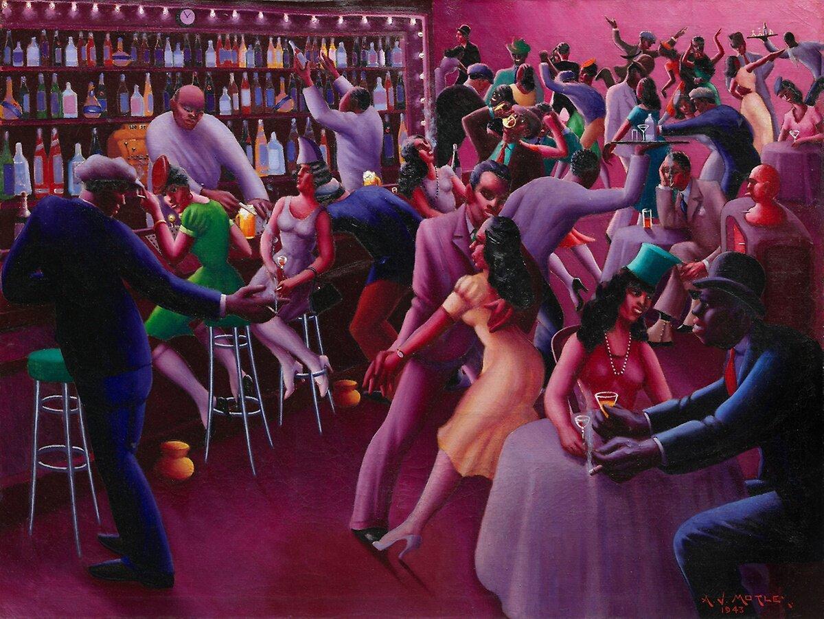 Nightlife (1943) by Archibald Motley © Valerie Gerrard Browne / Chicago History Museum / Bridgeman Images