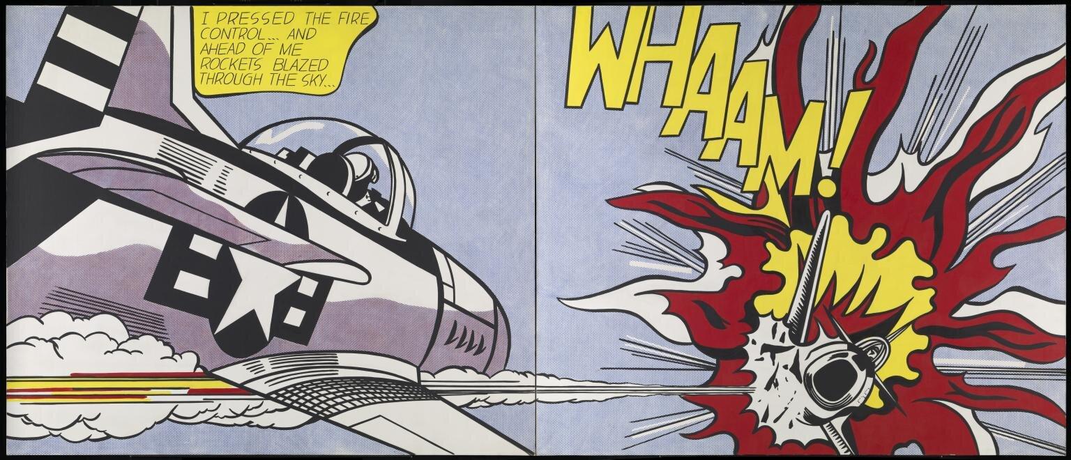 Whaam! (1963) by Roy Lichtenstein