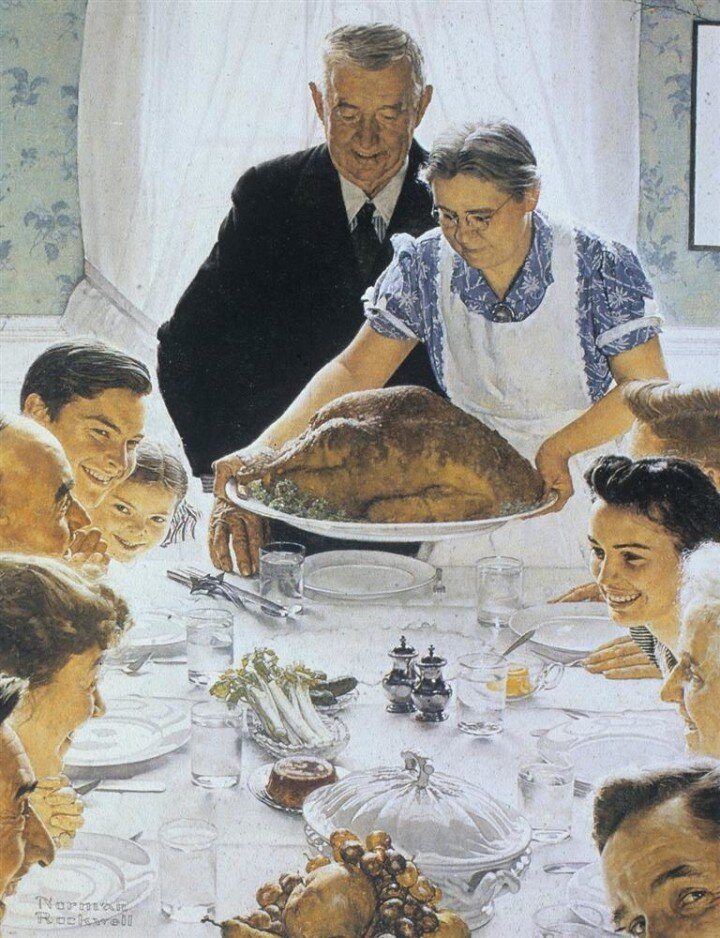 Freedom From Want (The Thanksgiving Picture) (1943) by Norman Rockwell