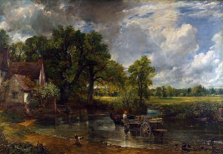 The Hay Wain (1821) by John Constable