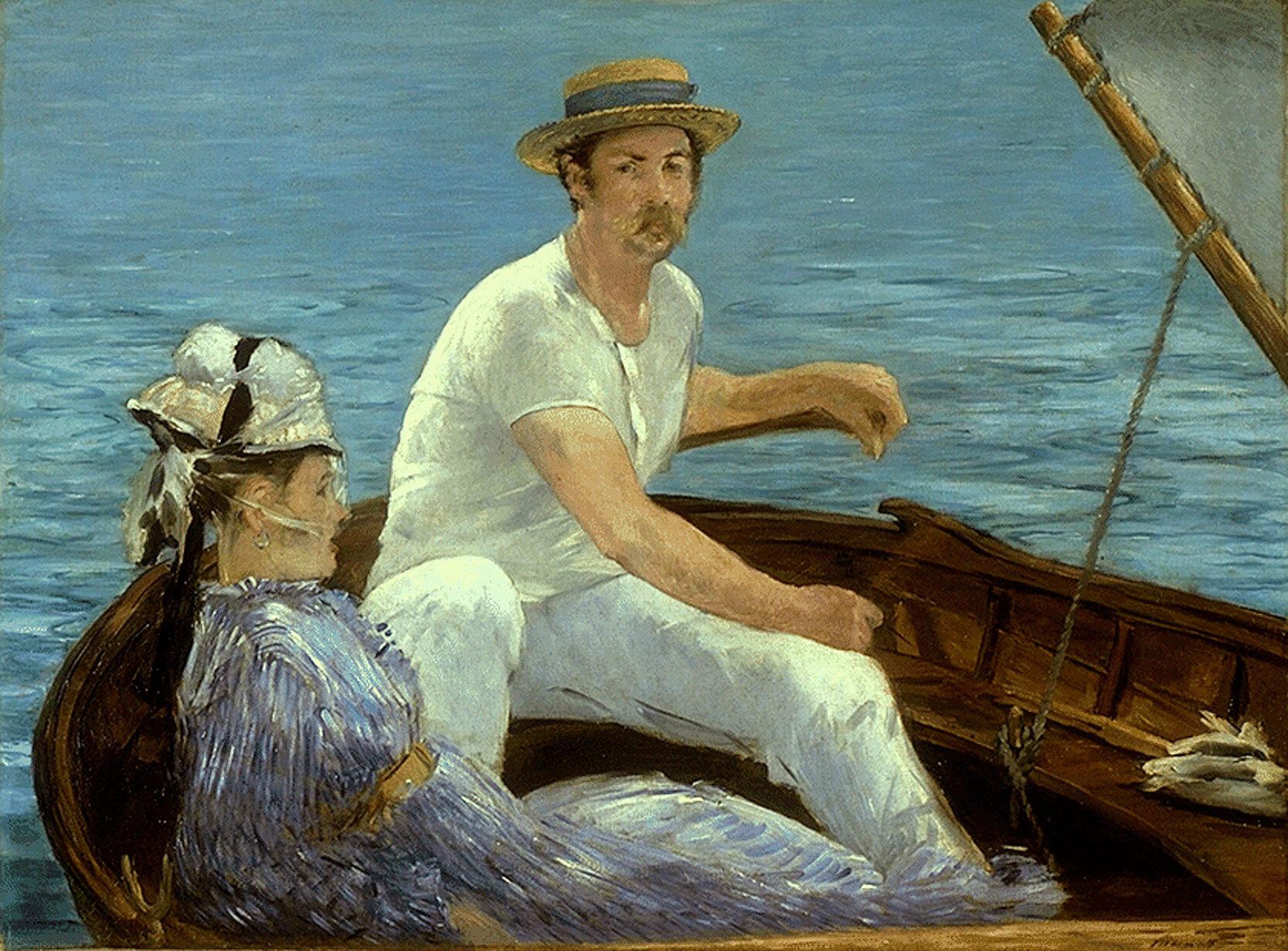 Boating, (1874) by Edouard Manet