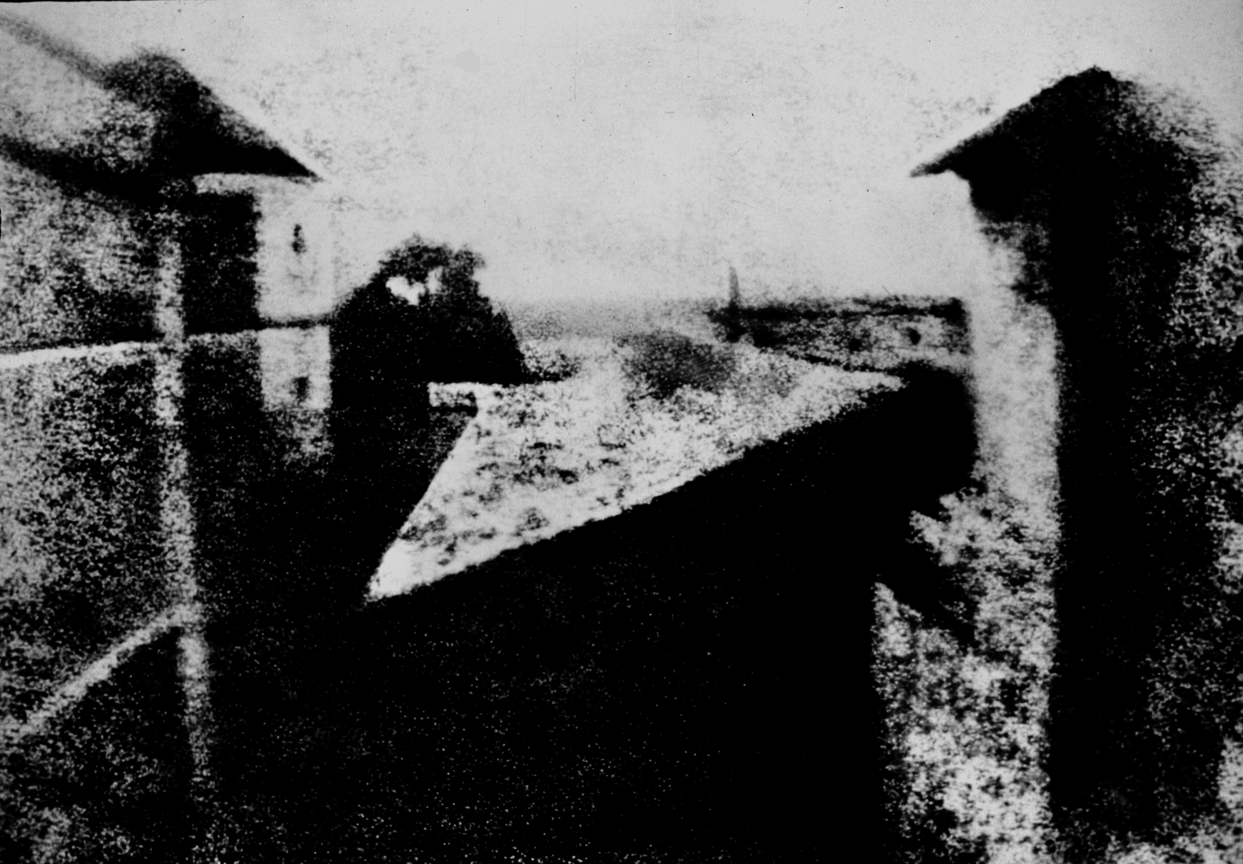 View from the Window at Le Gras, (1826 or 1827) by Joseph Nicéphore Niépce