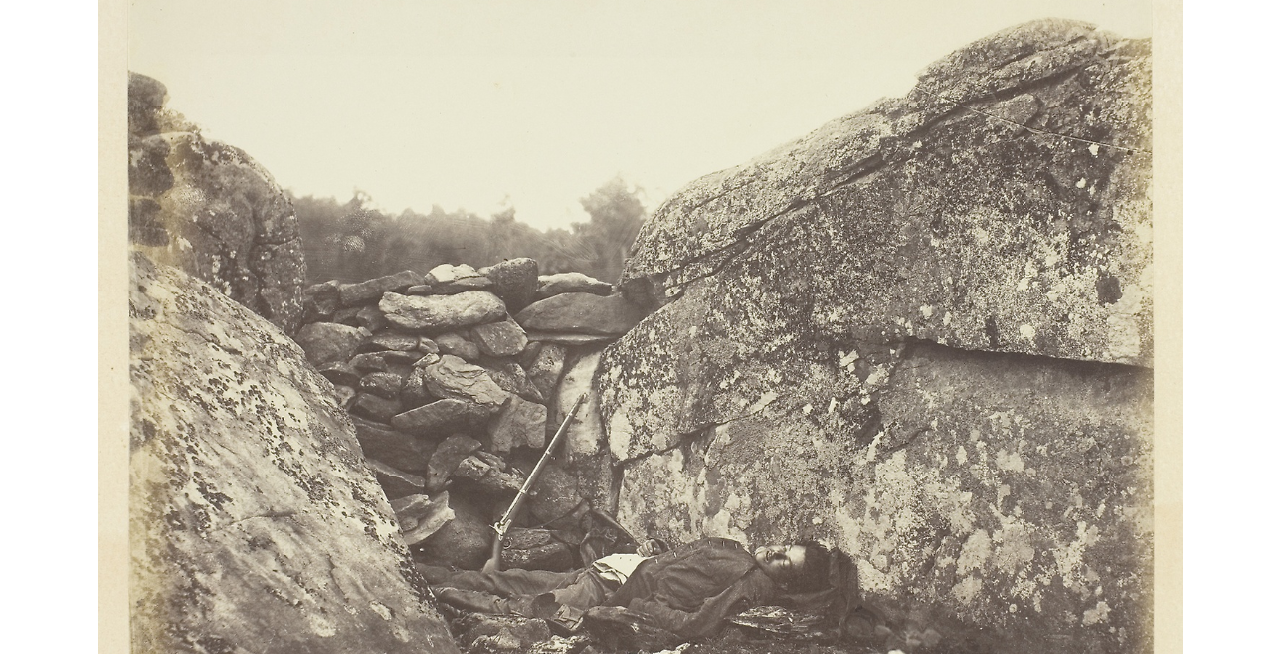 Alexander Gardner,  Home of a Rebel Sharpshooter , 1863