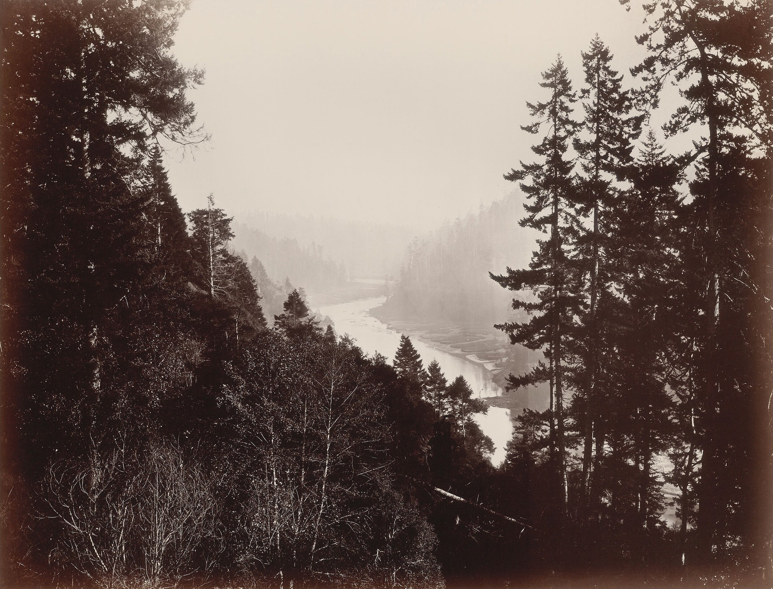 Big River, from the Rancherie, Mendocino, California, 1863  by Carleton Watkins