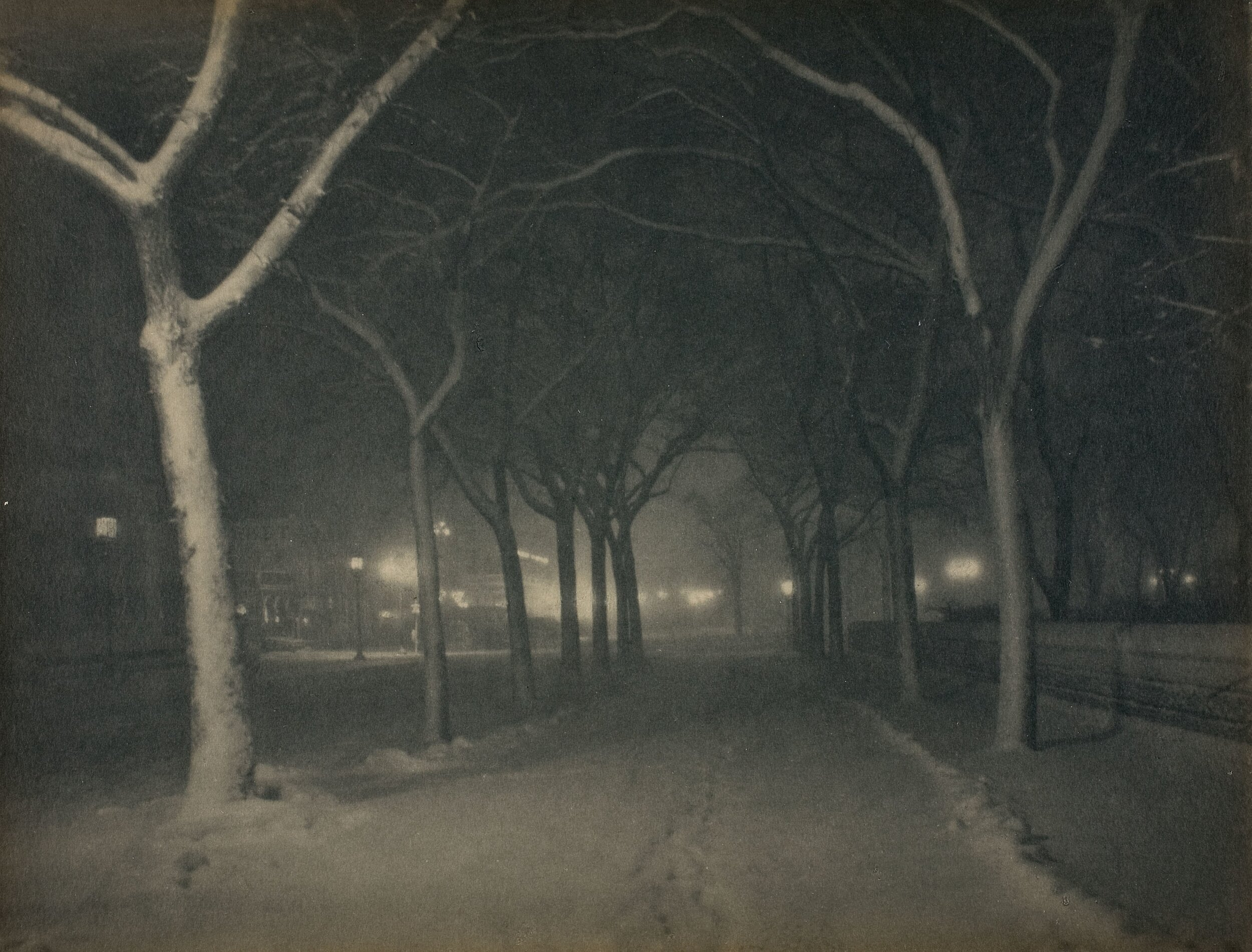 An Icy Night, New York, 1898  Alfred Stieglitz