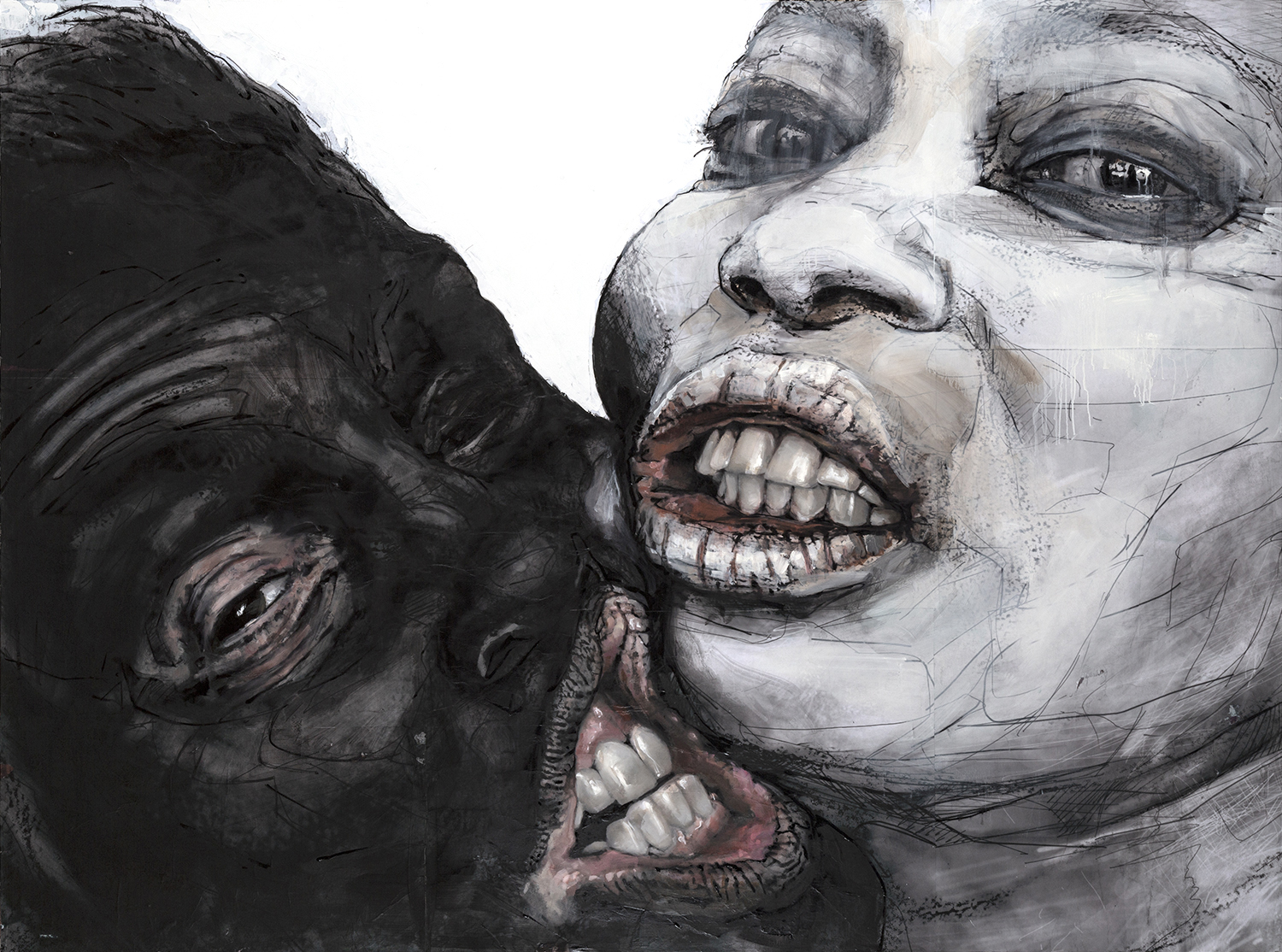 Implications of Baring One's Teeth, 60x80 inches