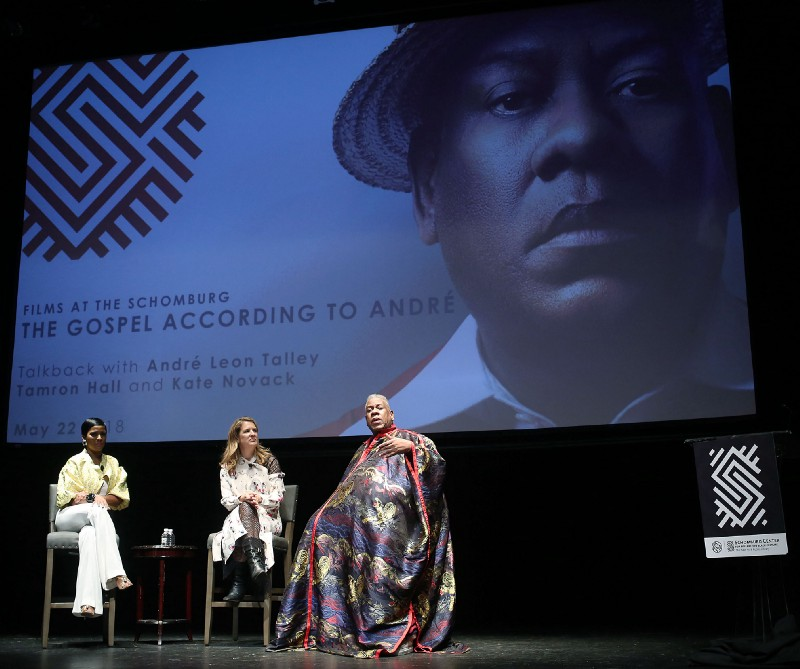 From left: Tamron Hall, Kate Novack, and André Leon Talley at the Schomburg Center on Tuesday night. Photo: Kristina Bumphrey from Starpix.